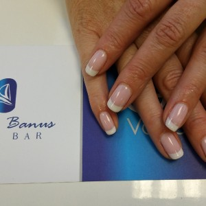 French manicure Cuccio veneer gel polish