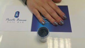Blue gunmetal glitter by Lecente