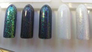 Multicolour black glitter