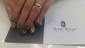 gold mirror nails