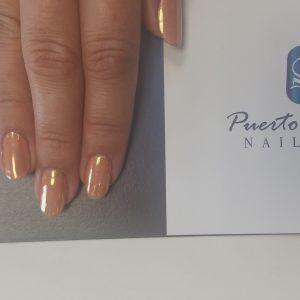 rose gold mirror nails