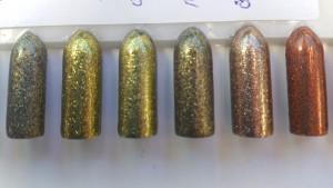 Bronze, gold glitter