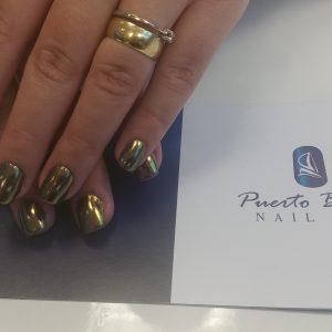 gold mirror nails