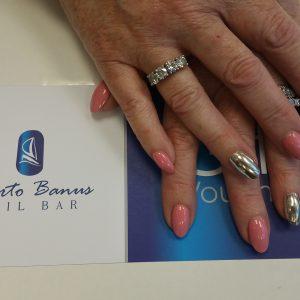 mirror nails acrylic at Puerto Banus nail bar in Cork